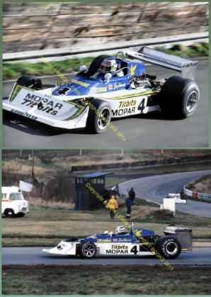 "MARCH 75A DFV Guy Edwards Oulton Park Gold Cup 1978 7x5"" photos x2"
